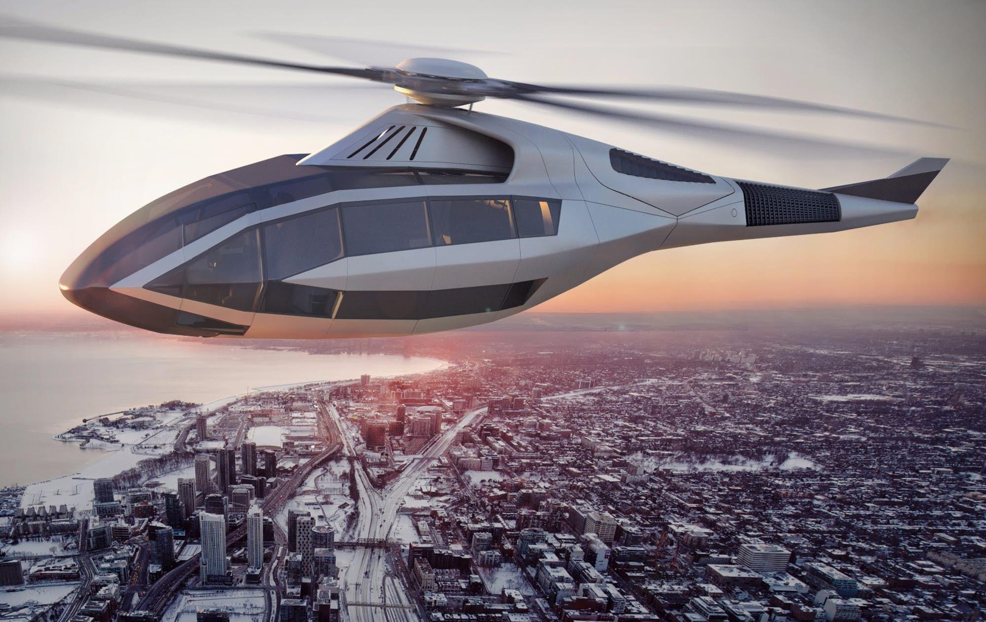 Montar en helicóptero nunca volverá a ser lo mismo con este futurista FCX-001