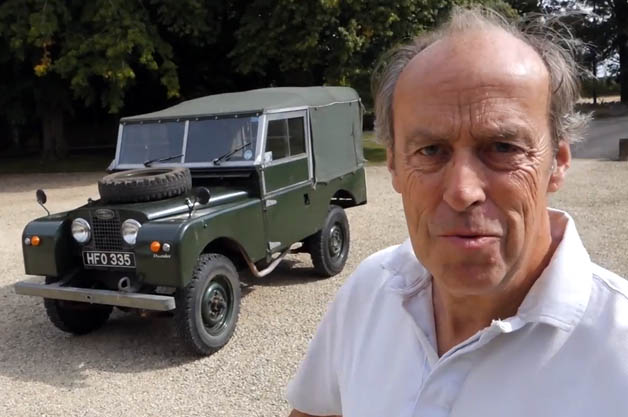 Harry Metcalfe with his Land Rover Series 1