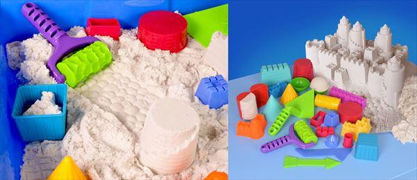 子どもに安全! 室内で楽しめる新感覚・砂遊び『サンズ・アライブ』が発売