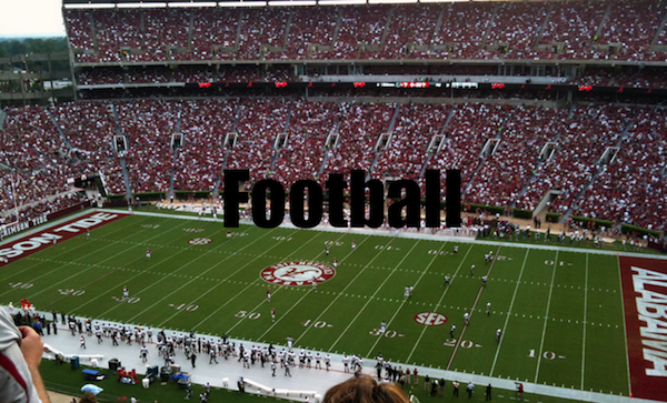 50 words for 50 states, alabama football
