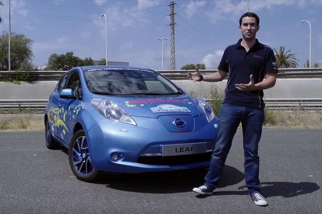 【ビデオ】日産スペインのエンジニア達が、就業時間外に燃費レース用「リーフ」を製作