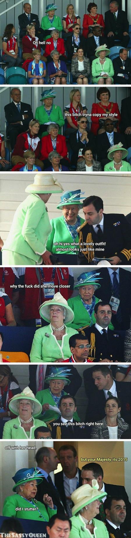 queen elizabeth ii sassy queen, queen elizabeth memes