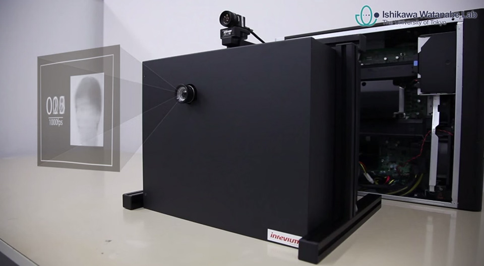 The DynaFlash projector (it can't actually display 3D images like that)