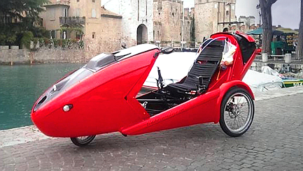 Save money on petrol with this fancy bicycle car