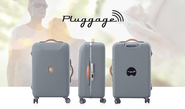 Delsey's new luggage weighs itself, charges phones, forecasts the weather