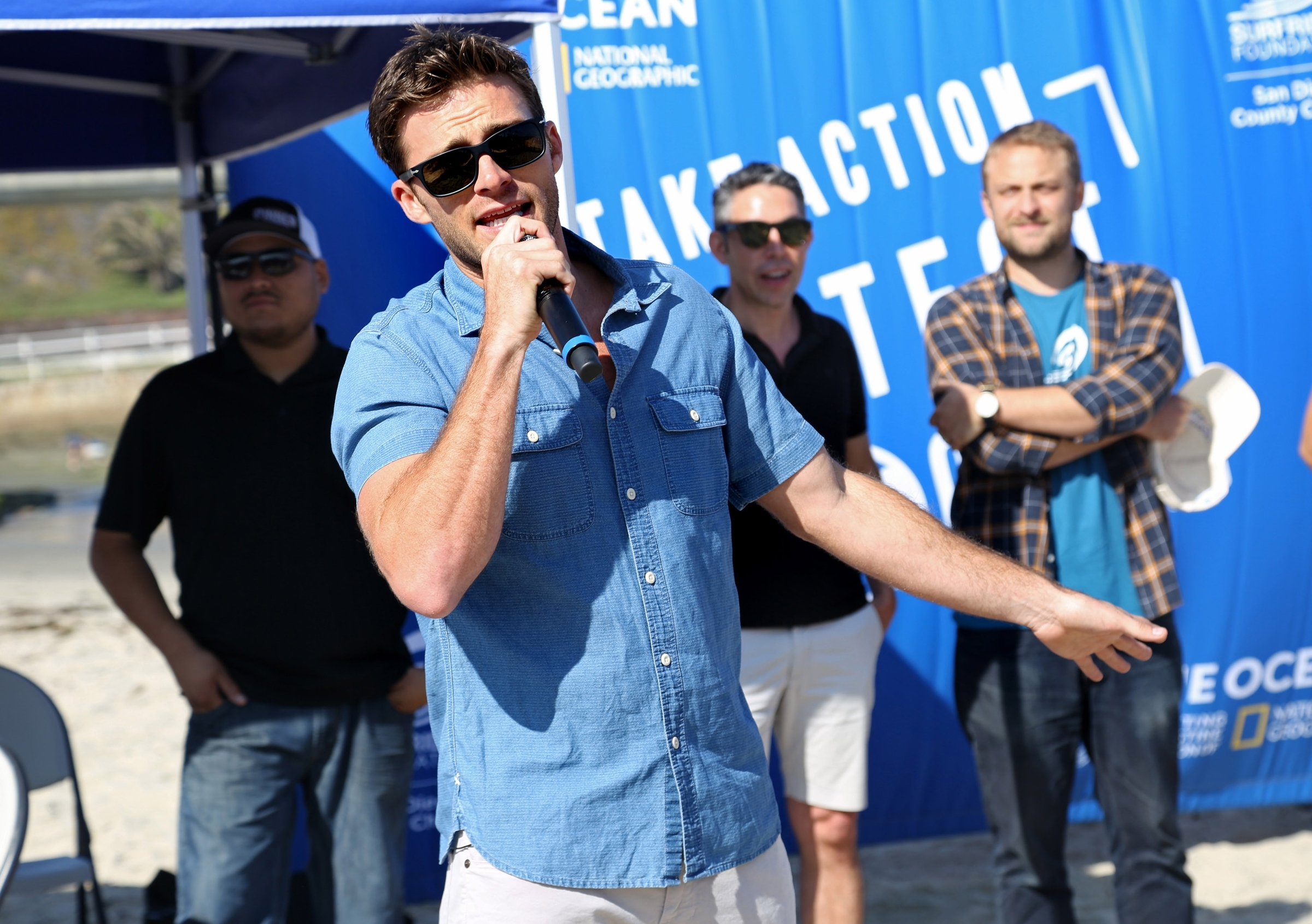 New York City -  July 10, 2016:  Looking good while doing good, Scott Eastwood, the face of Davidoff Cool Water, supports the brand's #LoveTheOcean campaign at a beach cleaunp in Ocean Beach.  -  PICTURED: Scott Eastwood   - PHOTO BY: Sara Jaye Weiss/StartraksPhoto.com