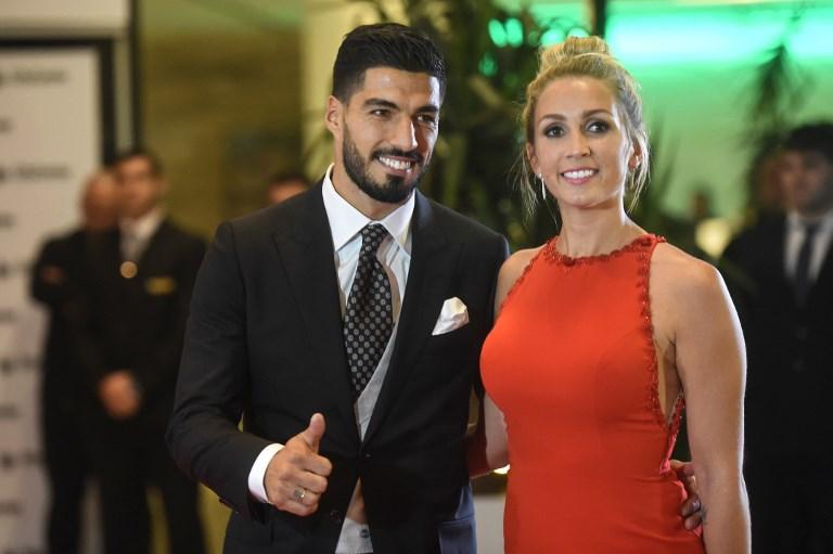 AFP Luis Suarez et sa femme Sofia Balbi