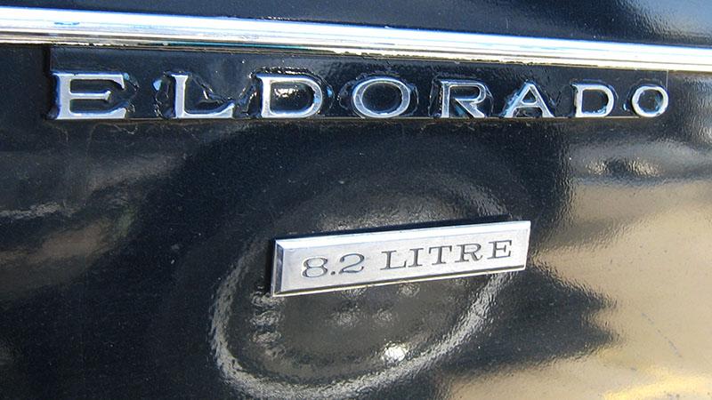 1970 Cadillac Eldorado 8.2 Litre badge