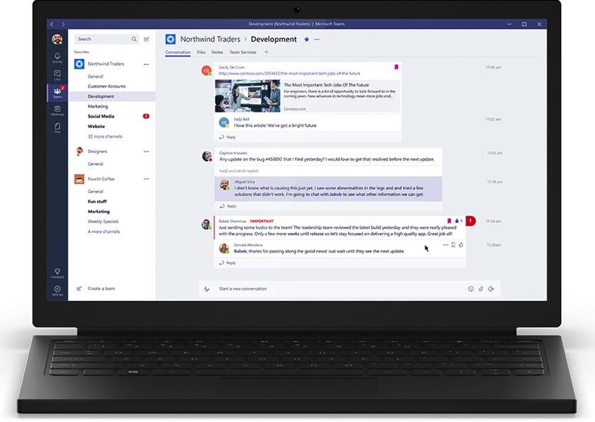Microsoft Teams offiziell gestartet