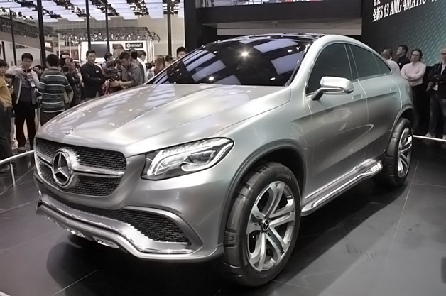 Mercedes benz concept coupe suv blurs lines in beijing - Mercedes benz concept coupe suv ...