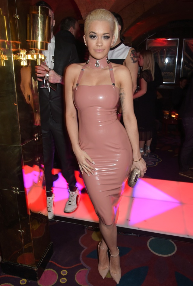 Rita Ora same latex dress as Kim Kardashian