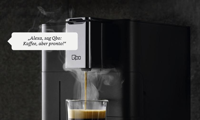 Qbo: Kaffeeautomaten brühen jetzt auch mit Alexa