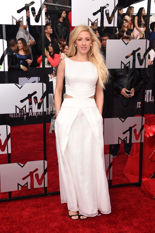 LOS ANGELES, CA - APRIL 13:  Recording artist Ellie Goulding attends the 2014 MTV Movie Awards at Nokia Theatre L.A. Live on April 13, 2014 in Los Angeles, California.  (Photo by Jason Merritt/Getty Images for MTV)