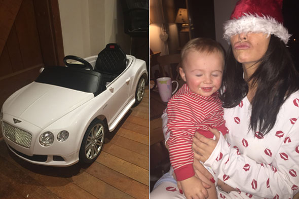 Katie Price buys her 16-month-old son Jett a Bentley for Christmas - but says she didn't buy Bunny anything
