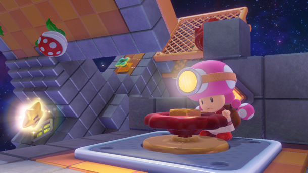Captain Toad: Treasure Tracker features the stylish Toadette!