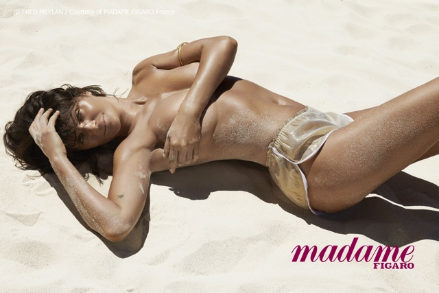 Helena Christensen is stunning in new beach bikini shoot Madame Figaro