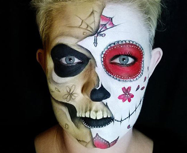 Mum's Halloween face painting tutorial goes viral