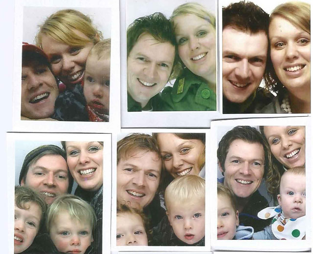 14 years of photo booth pictures show a couple become a family