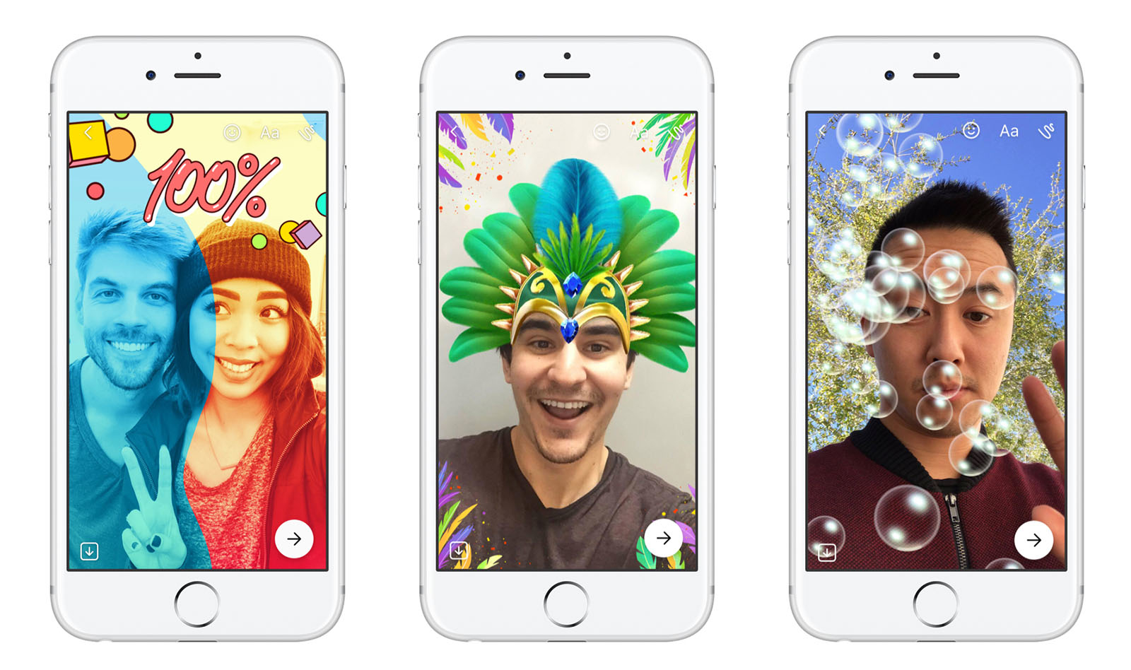 Facebook vuelve a copiar por cuarta vez a Snapchat