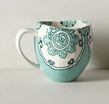 Gloriosa turquoise mug from Anthropologie