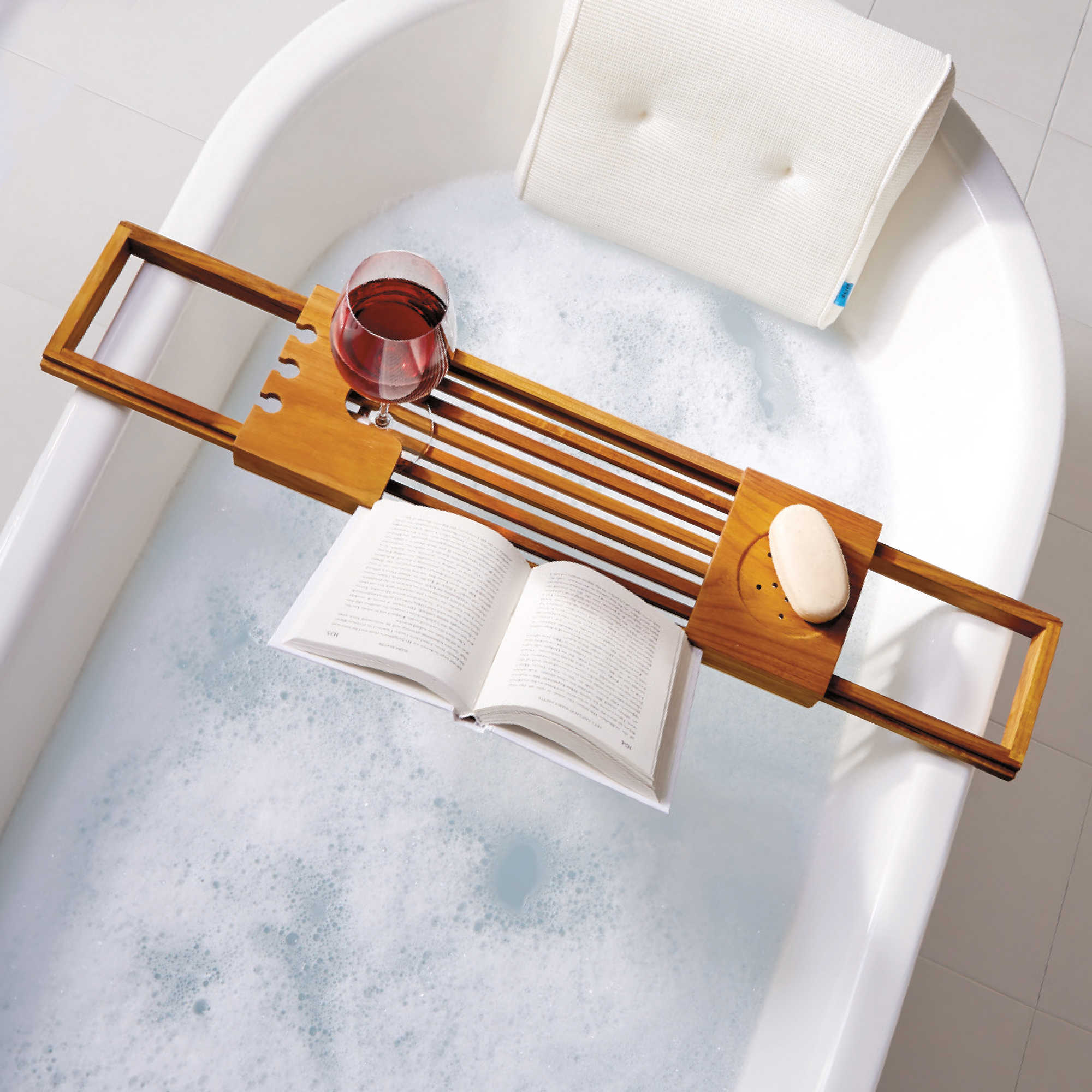Wine And Book Holder For Bathtub - Bathtub Ideas