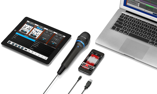 IK Multimedia, iRig Mic HD, microphone, digital microphone, iPhone, iPad, MacBook