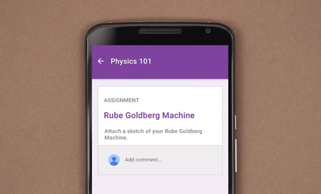 Google's Classroom app lets students submit homework through their phones