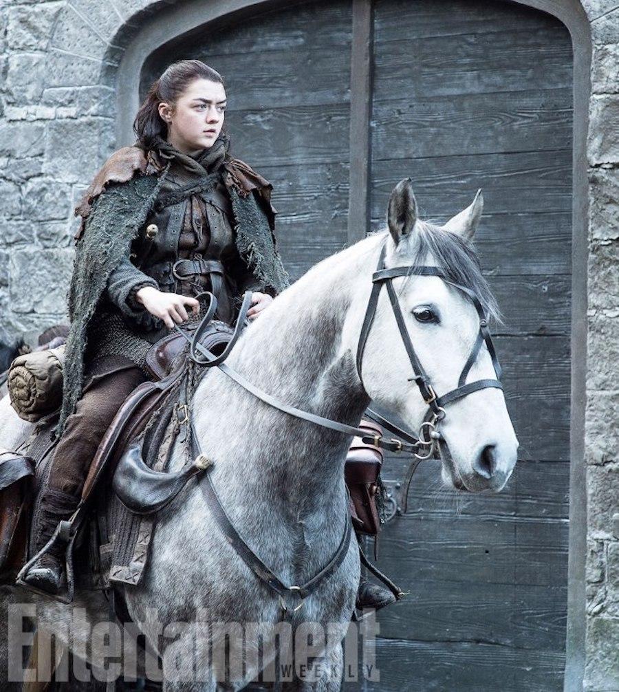 Game of Thrones<br /> TK<br /> Season 7, Episode TK<br /> Air Date: TK<br /> Maisie Williams as Arya Stark