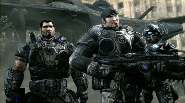 'Gears of War' characters Dom, Marcus and Carmine