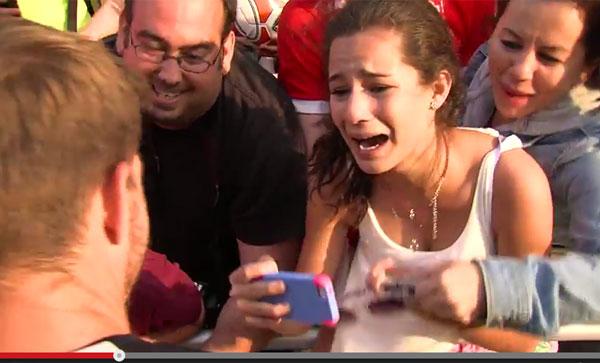 ジェラードに会った少女が号泣!アメリカでサッカー人気が高まってる模様