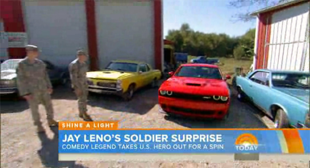 Jay Leno, The Today Show, Dodge Challenger SRT Hellcat