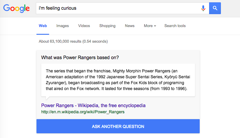 Googling 'fun facts' will quickly ruin your productivity