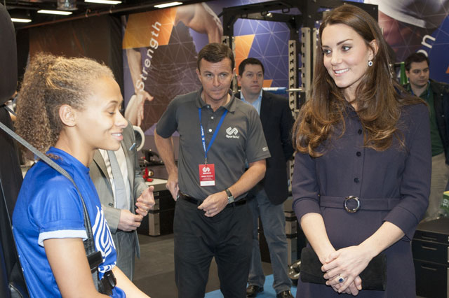 Pregnant Duchess of Cambridge meets young Olympic hopefuls