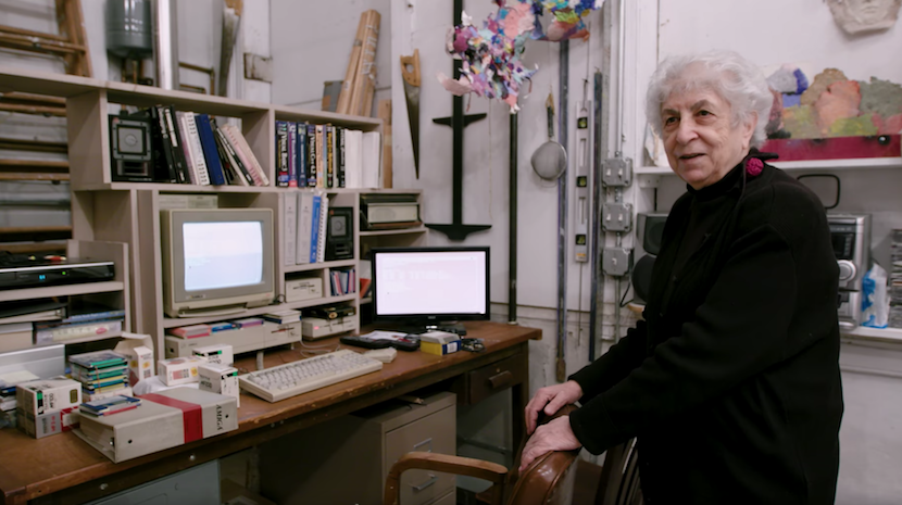 Porträt: Die 81-jährige Computer-Künstlerin Samia Halaby