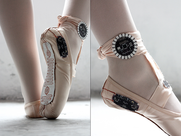 Lilypad Ardunio pointe shoes