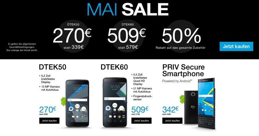 BlackBerry-Smartphones deutlich günstiger