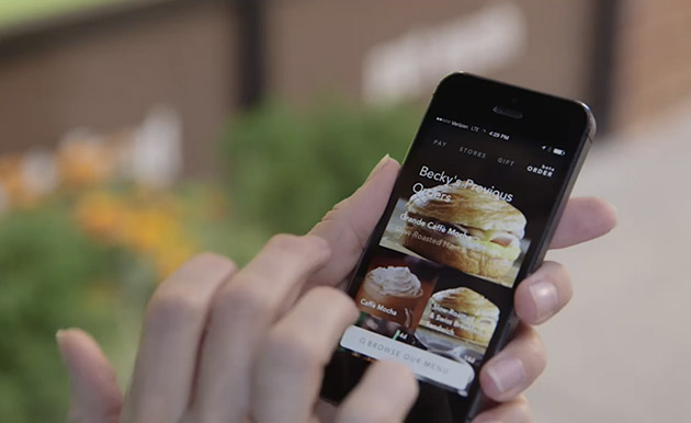 Starbucks now lets you order and pay through mobile... if you're in Portland
