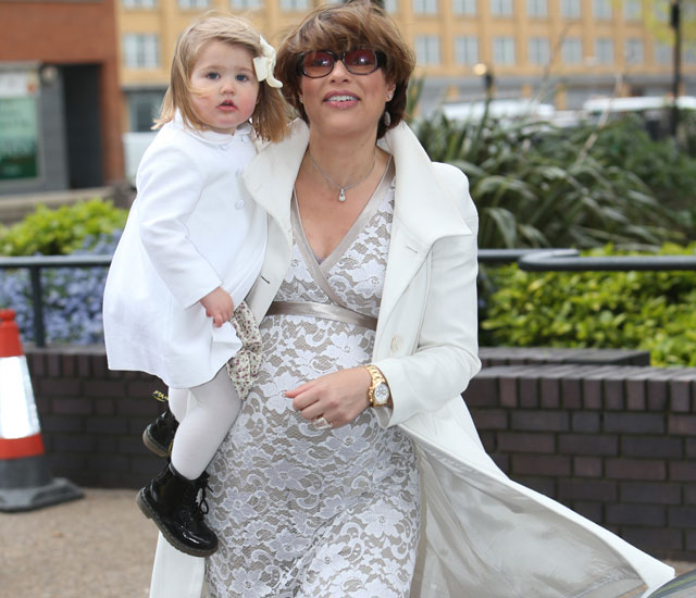 Pregnant Kate Silverton is gorgeous in lace as she discusses second 'miracle' baby