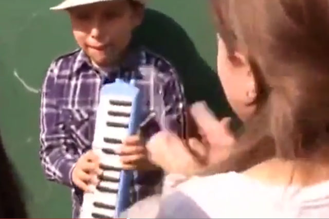 Blind jazz musician wows South America - and he's only nine years old (video)
