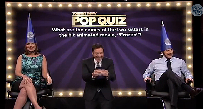 Best of late night tv savannah guthrie matt lauer play for Pop quiz tv show