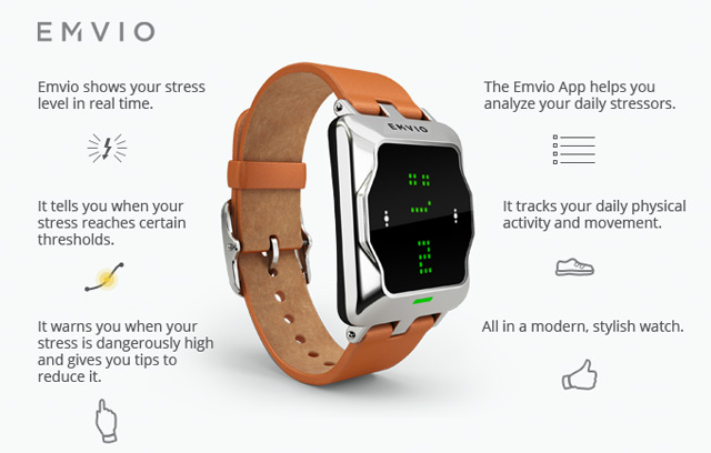 Emvio's smartwatch will tell you when you're stressing out