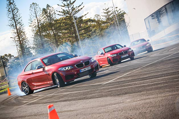 BMW M235i Drift Mob practice session