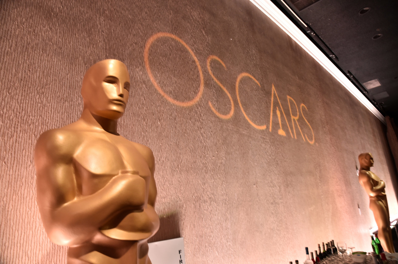 BEVERLY HILLS, CA - FEBRUARY 08:  A view of the Oscars logo at the 88th Annual Academy Awards nominee luncheon on February 8, 2016 in Beverly Hills, California.  (Photo by Alberto E. Rodriguez/Getty Images)