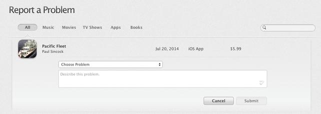 iOS refund