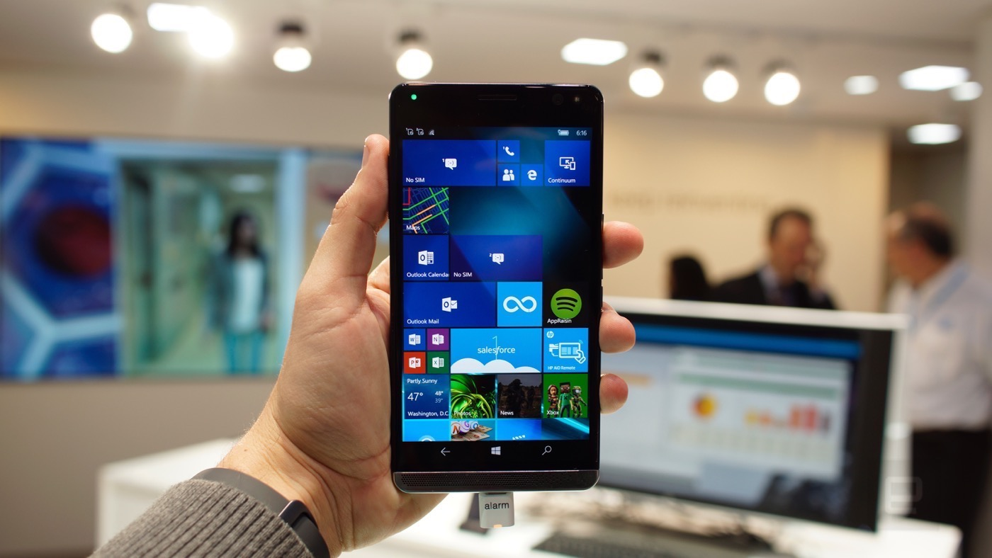 El HP Elite x3 es un musculoso smartphone con Windows 10