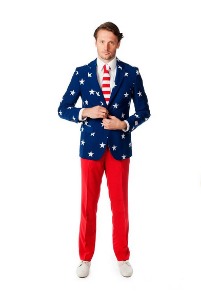 Stars and Stripes Party Suit Halloween Costume