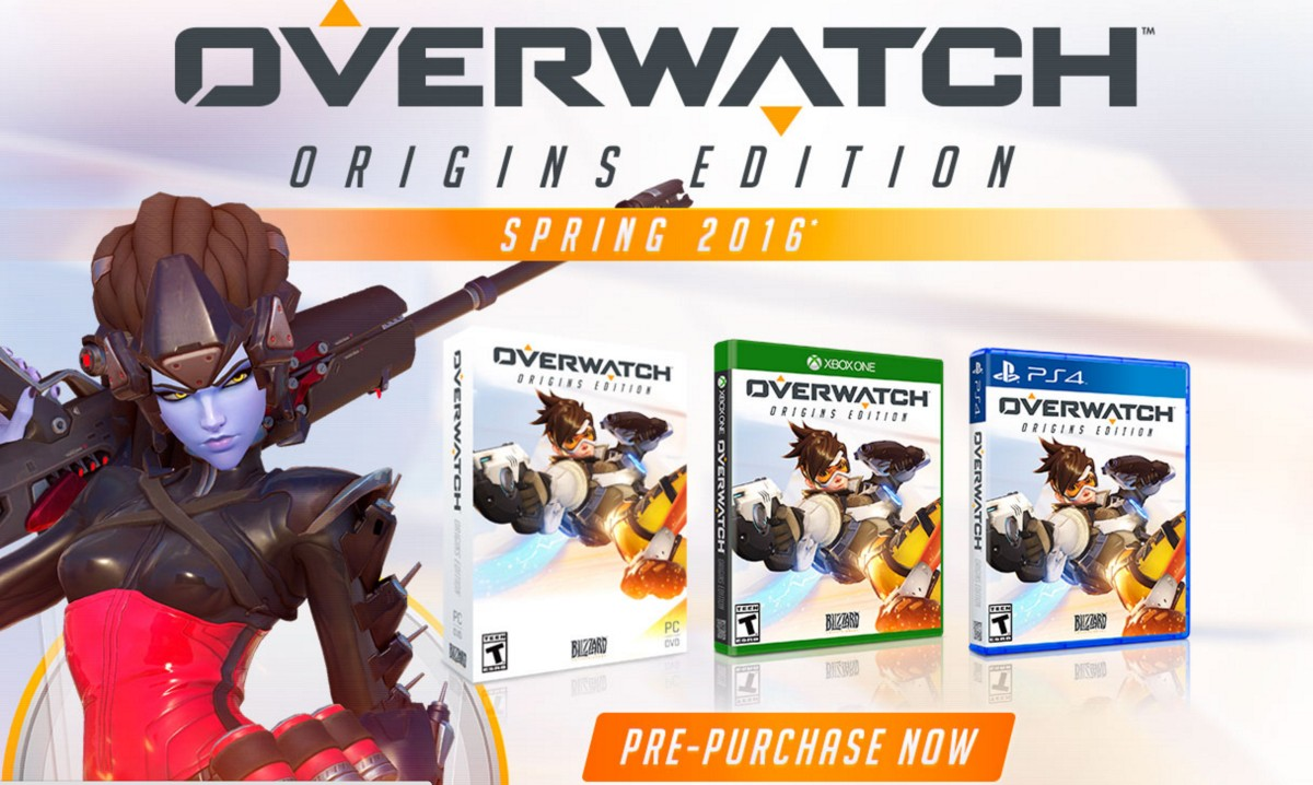 overwatch origins edition will be on pc ps4 and xb1