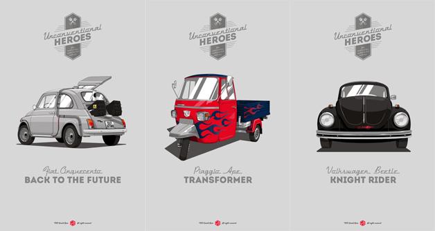 もしヒーローの愛車がチープなクルマだったら?