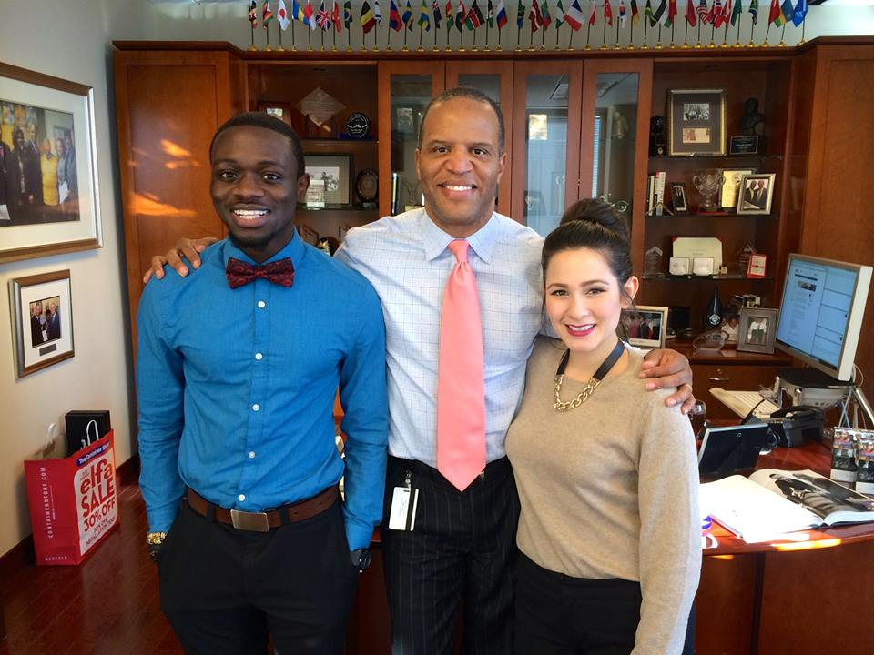 John Hope Bryant with Office of the Chairman Fellow Eddie Minta and new OOC Intern Maria Martinez (her first day.)