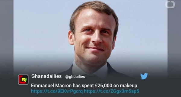 エマニュエル・マクロン仏大統領、就任以来メイクにかけた費用は驚異の約340万円